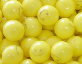 Smiley Face Gumballs